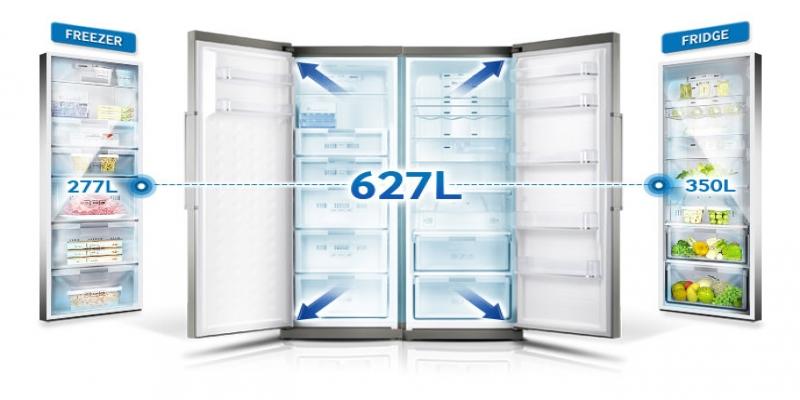فروش یخچال و فریزر دوقلو