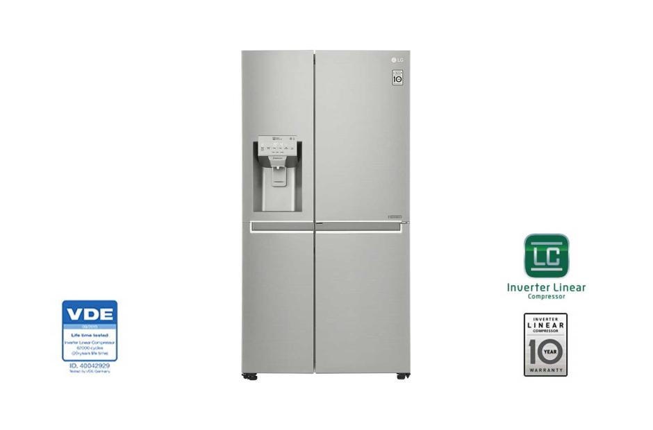 قیمت یخچال ساید بای ساید ال جی مدل GR-J257CLAV