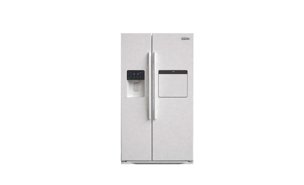 قیمت یخچال فریزر ساید بای ساید الکترواستیل سفید چرمی مدل ES51